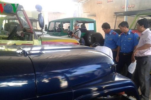 Tổng kiểm tra xe vận tải khách tại Quảng Nam