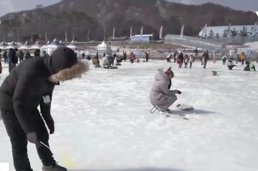 Câu cá trên băng tại Hàn Quốc