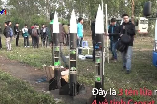 Nhóm sinh viên chế tạo vệ tinh trong vỏ lon giá 2 triệu đồng