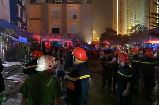Họp báo sau vụ cháy chung cư Carina