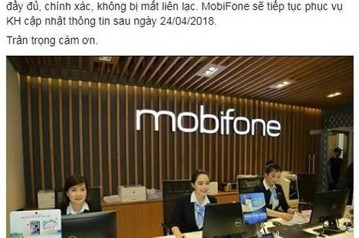 VinaPhone, MobiFone thông báo lùi thời hạn bổ sung thông tin