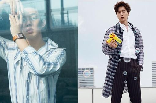 Park Hae Jin và Yoo Ah In đọ độ lạnh lùng trên tạp chí