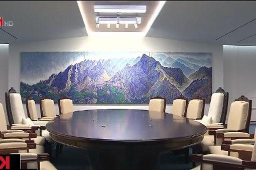 Cận cảnh phòng họp sẽ diễn ra cuộc gặp lịch sử Hàn Quốc, Triều Tiên