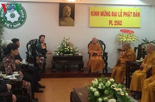 Chủ tịch Quốc hội Nguyễn Thị Kim Ngân chúc mừng Lễ Phật đản