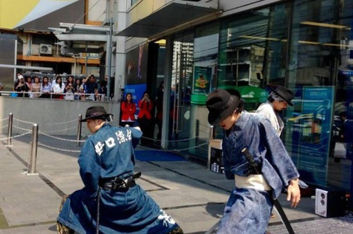Độc đáo samurai thu rác ở Nhật Bản