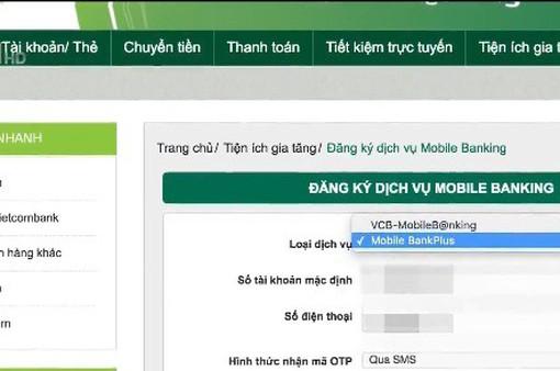 Đăng ký ngân hàng trực tuyến phải dùng SIM chính chủ