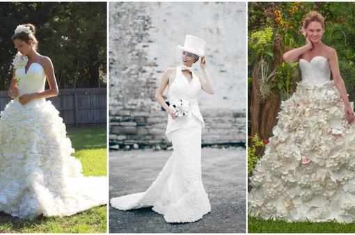 Váy cưới tuyệt đẹp từ... giấy vệ sinh