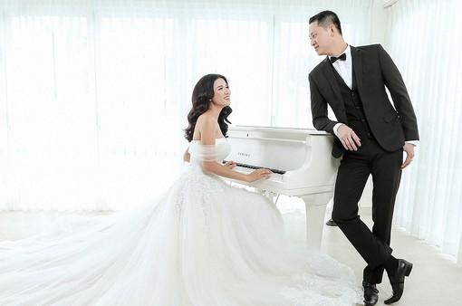 Trang Trần tung ảnh cưới ngọt ngào, lãng mạn bên ông xã Việt kiều