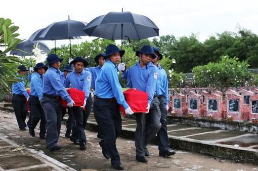 An táng 168 hài cốt liệt sĩ quân tình nguyện Việt Nam về lòng đất mẹ