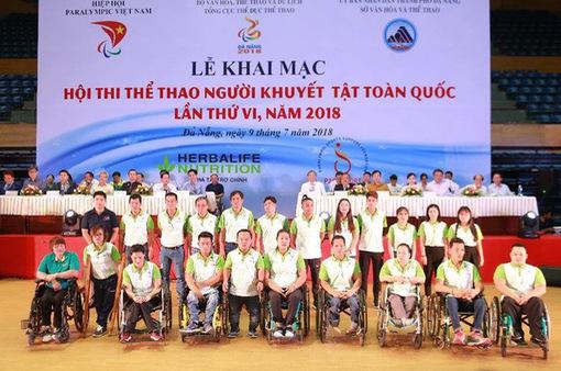 Hơn 1000 vận động viên tranh tài quyết liệt tại hội thi thể thao người khuyết tật toàn quốc 6