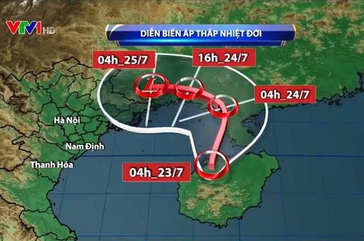 Áp thấp nhiết đới tiếp tục gây thời tiết xấu ở Vịnh Bắc Bộ