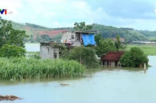 Ngập nặng tại huyện Thạch Thành, tỉnh Thanh Hóa