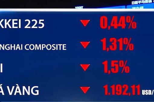 Thị trường chứng khoán châu Á vẫn giảm điểm bất chấp đồng Lira phục hồi