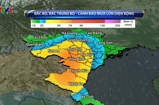Sau bão số 4, nhiều nơi ở Bắc Bộ và Bắc Trung Bộ mưa lớn