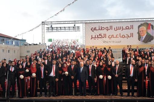 250 cặp đôi đám cưới tập thể tại Palestine