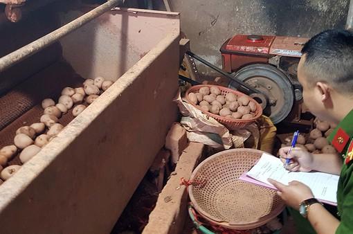 Bắt quả tang vụ làm giả khoai tây ngay trong chợ nông sản Đà Lạt