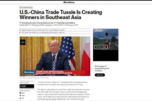 Căng thẳng thương mại Mỹ - Trung tạo cơ hội cho ASEAN