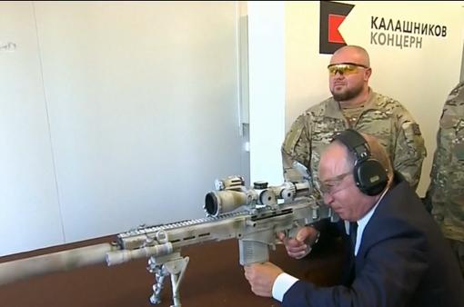 Tổng thống Nga Putin trổ tài thiện xạ