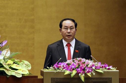 Lãnh đạo Lào gửi điện chia buồn Chủ tịch nước Trần Đại Quang từ trần