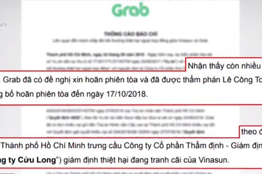 Vụ Vinasun kiện Grabtaxi đòi bồi thường 41 tỷ đồng: Tiếp tục hoãn xét xử