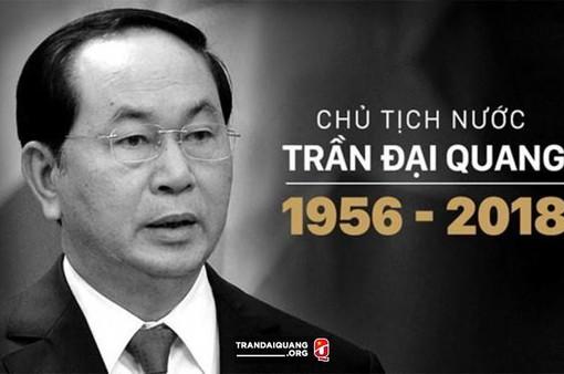 Lãnh đạo nhiều nước gửi điện chia buồn Chủ tịch nước Trần Đại Quang từ trần