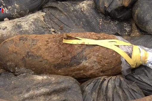 Nhật Bản phát hiện bom dài 70cm sót lại từ Thế chiến 2