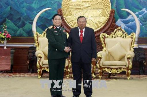 Đại tướng Ngô Xuân Lịch hội kiến với Tổng Bí thư, Chủ tịch nước Lào