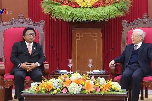 Tổng Bí thư tiếp Chủ tịch Hội đồng Đại biểu Địa phương Indonesia