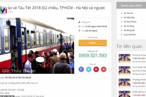 Không nên mua vé tàu Tết qua mạng xã hội