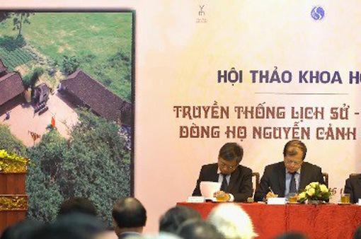 Hội thảo truyền thống lịch sử, văn hóa dòng họ Nguyễn Cảnh