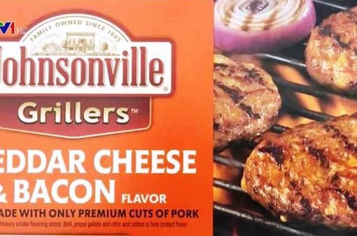 Mỹ thu hồi 21 tấn thịt lợn đông lạnh