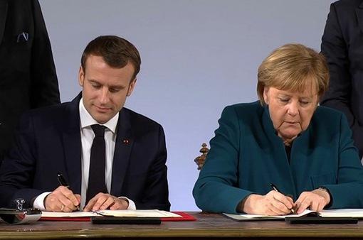 """Đức và Pháp ký Hiệp ước Aachen """"làm mới"""" quan hệ hữu nghị"""