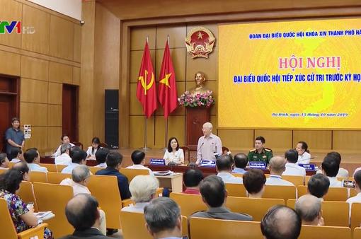 Tổng Bí thư, Chủ tịch nước tiếp xúc cử tri thành phố Hà Nội