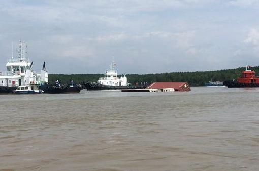 Phân luồng hàng hải sau vụ chìm tàu ở Cần Giờ