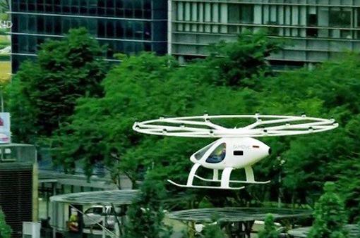 Thử nghiệm taxi bay tại Singapore