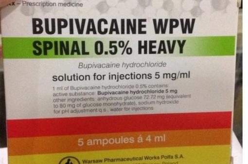 Cục quản lý Dược - Bộ Y tế: Thuốc gây tê Bupivacaine an toàn