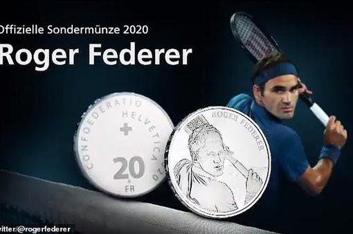Roger Federer đi vào lịch sử tiền tệ Thụy Sĩ