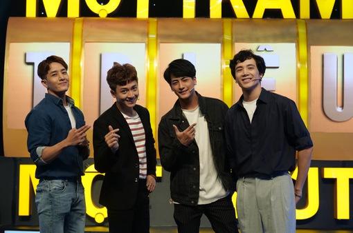 """3 hot boy """"Người ấy là ai"""" đổ bộ """"100 triệu 1 phút'' khiến Ngô Kiến Huy ghen tỵ"""