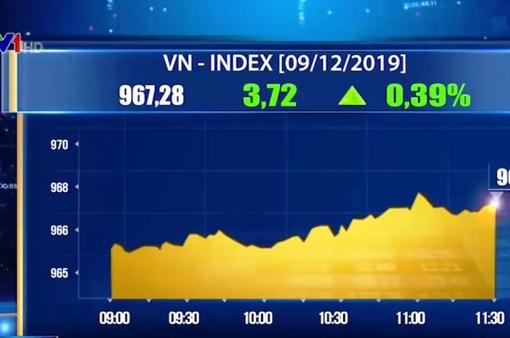 Thị trường chứng khoán Việt Nam sáng 9/12 tăng điểm nhẹ