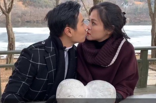 """MC Nguyên Khang hôn My """"sói"""" trên đảo Nami lãng mạn của Hàn Quốc"""