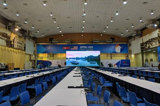 Trung tâm báo chí quốc tế phục vụ Hội nghị thượng đỉnh Mỹ-Triều được trang bị hiện đại nhất