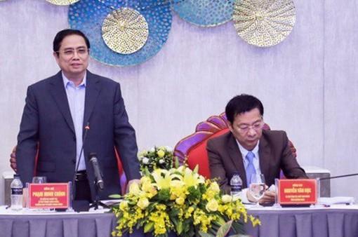 Đồng chí Phạm Minh Chính làm việc với tỉnh Quảng Ninh