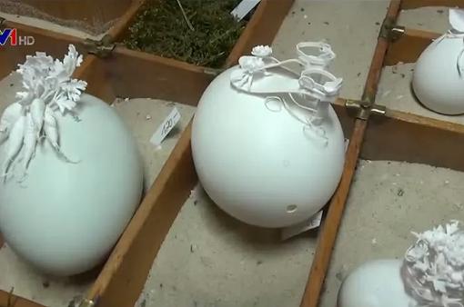 Tuyệt đẹp tác phẩm giấy trên trứng Phục sinh