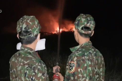 Cháy rừng phòng hộ ở Hòn Đất, Kiên Giang