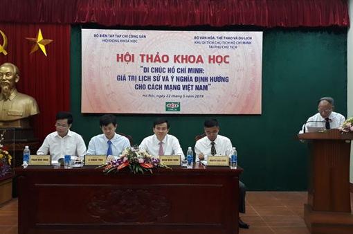 Giá trị lịch sử và định hướng của Di chúc Chủ tịch Hồ Chí Minh