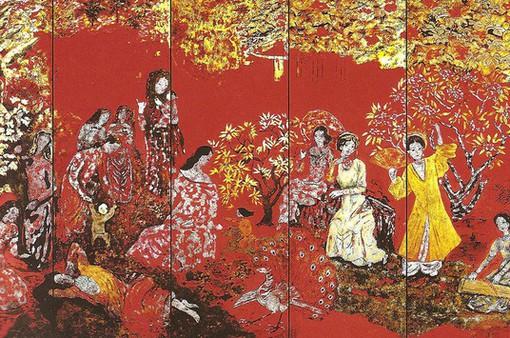 """Liệu có thể phục hồi nguyên vẹn tuyệt tác sơn mài """"Vườn xuân Trung Nam Bắc""""?"""