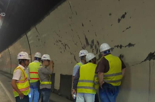 Vết nứt hầm Hải Vân không gây nguy hiểm