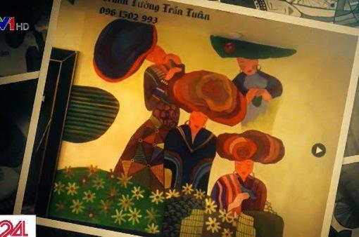 Hàng chục bức tranh của họa sĩ ngang nhiên bị đạo thành tranh tường