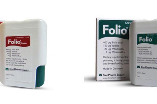 Viên uống bổ sung acid folic Folio® chính hãng của Đức