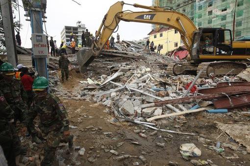Tỉnh trưởng Campuchia từ chức sau vụ sập nhà